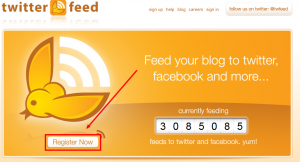 twitterfeed.com - feed your blog to twitter